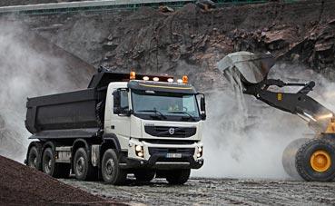El Volvo FMX celebra 10 años, al servicio de la construcción