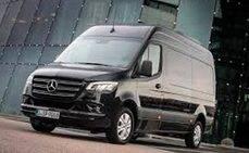 Una prueba de eficiencia de Mercedes Vans, DPD y What3words