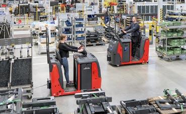 Nueva serie de tractores de arrastre de Linde Material Handing