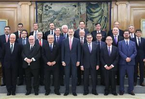 El Rey recibe en audiencia al comité ejecutivo de la CETM