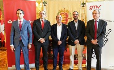 Valladolid y Auvasa firman un acuerdo con Banco Santander y GMV