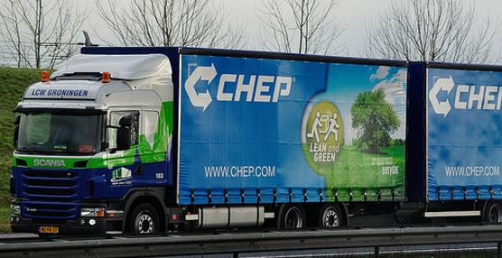 Un megatruck compartido de Chep para P&G y Capsa