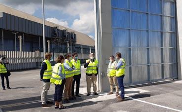 La APS recibe la obra del recinto con muros de hormigón de semirremolques