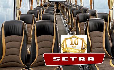 Setra Voyage, 10 años de asientos de autocar