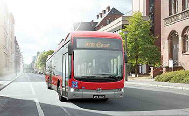 13 e-buses BYD comisionados para Suecia