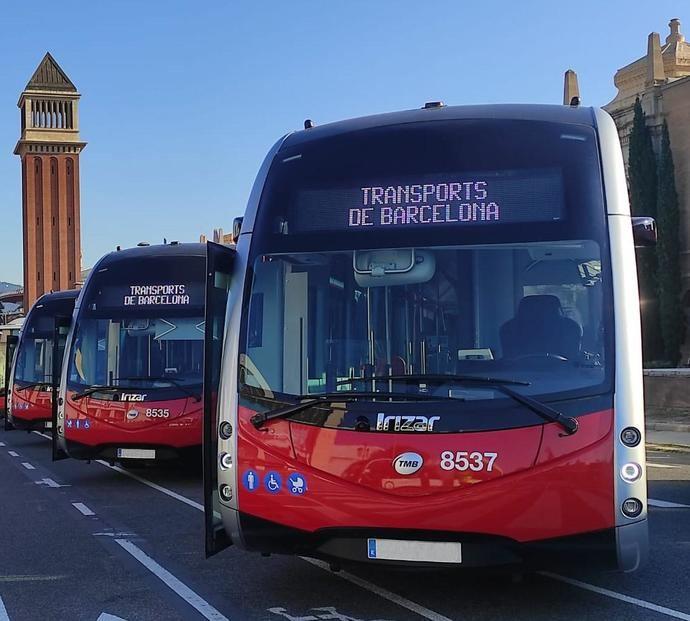 Nueve autobuses eléctricos lrizar se incorporan a la flota de TMB