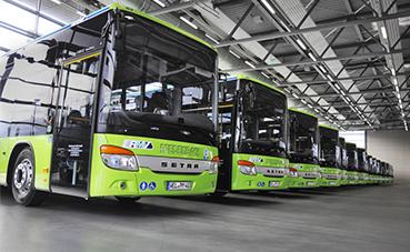 16 autocares de piso bajo Setra S 415 LE business para Medenbach