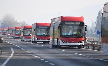 Chile incorpora a su flota de autobuses, 150 nuevas unidades BYD