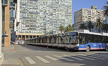 Uruguay lanza una nueva flota de autobuses eléctricos BYD