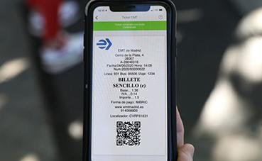EMT Madrid lanza el pago del billete sencillo vía QR