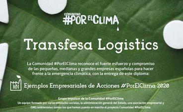 Transfesa Logistics, reconocida por su labor con el medio ambiente