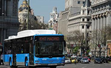 La flota de autobuses de EMT Madrid funciona al 100%