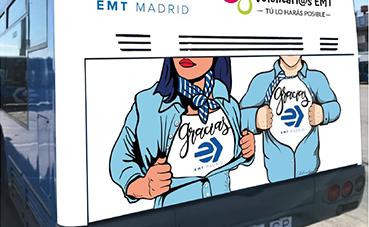EMT pone en marcha un autobús solidario, para recoger productos