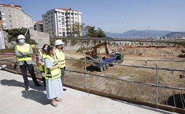 Avances en las obras de la nueva estación de autobuses de Vigo
