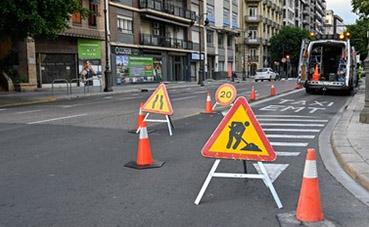 ETM Valencia realiza trabajos de mejora en la calle Colón