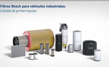 Filtros Bosch creados para vehículos industriales