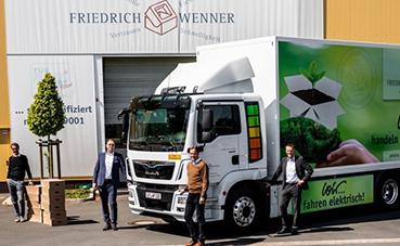 Friedrich Wenner incorpora un camión eléctrico MAN