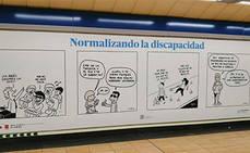 Campaña de sensibilización de la discapacidad, en Metro de Madrid