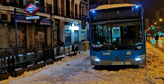 El temporal Filomena deja varias redes de transporte suspendidas