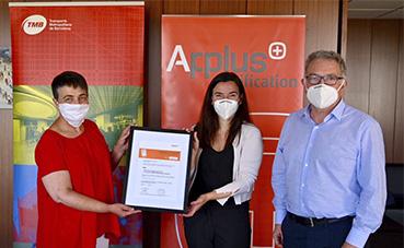TMB certificado como espacio seguro contra contagios de coronavirus
