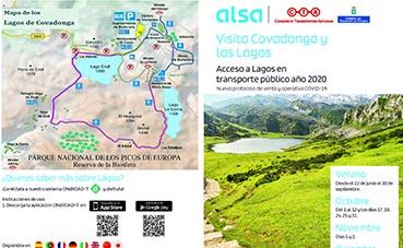 Activo en Asturias el nuevo plan de transporte a los lagos de Covadonga
