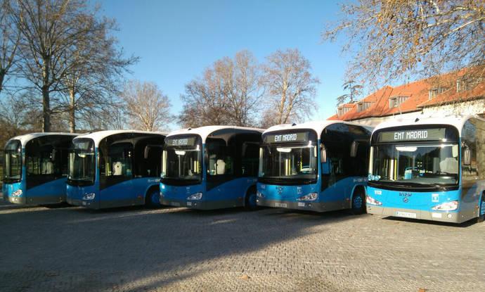 Madrid estrena sus primeros 15 autobuses 100% eléctricos, entregados por Irizar