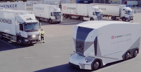 DB Schenker presenta en Alemania T-Pod: el primer camión eléctrico autónomo