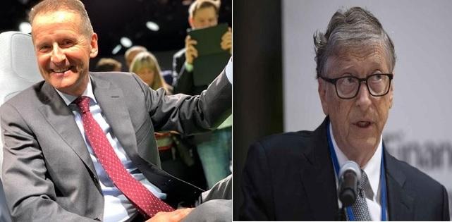 Presidente de Volkswagen apoya a Bill Gates en transporte más ecológico