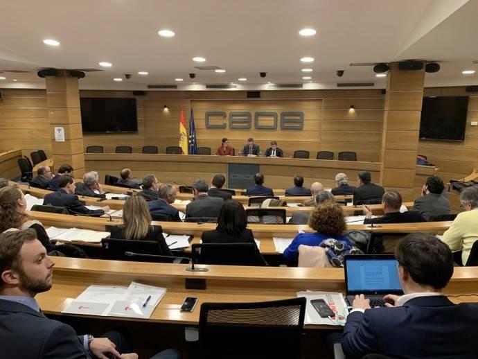 Imagen de la primera Junta Directiva de Confebus del año 2020.