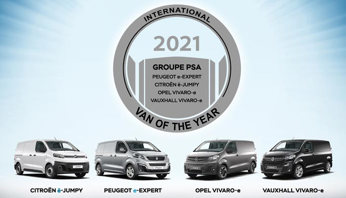 Groupe PSA gana el premio International Van of the Year 2021