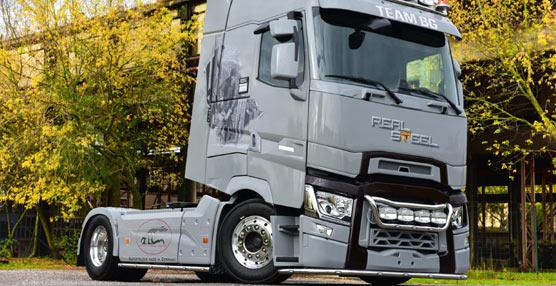 El Renault Trucks T personalizado en directo en la IAA, a rodar