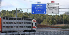 Restricciones de tráfico en Cataluña a camiones para 2021