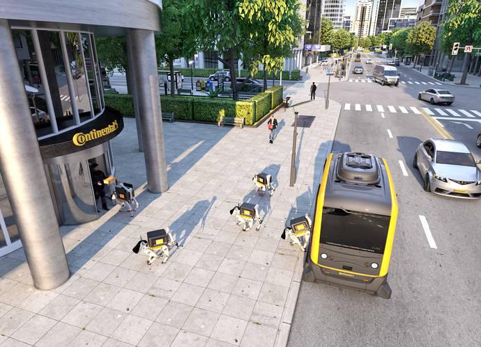 Continental apuesta por vehículos autónomos y robots