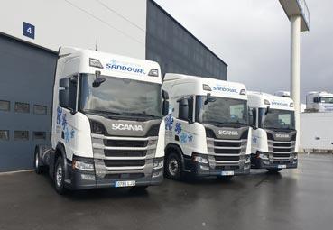 Frigoríficos Sandoval incorpora tres tractoras GNL de Scania
