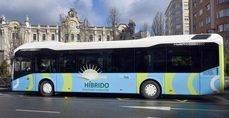 Autobús híbrido TUS en Santander.