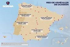 Mapa red de Centros de Vehículos de Ocasión.