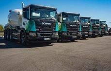Comibersa suma cinco hormigoneras GNC de Scania