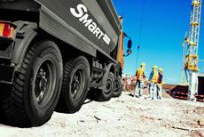 Scania equipa a sus nuevos vehículos de construcción con neumáticos Hankook