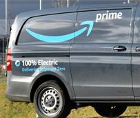 Vehículos Mercedes-Benz eVito libres de emisiones en el camino hacia Amazon en Munich