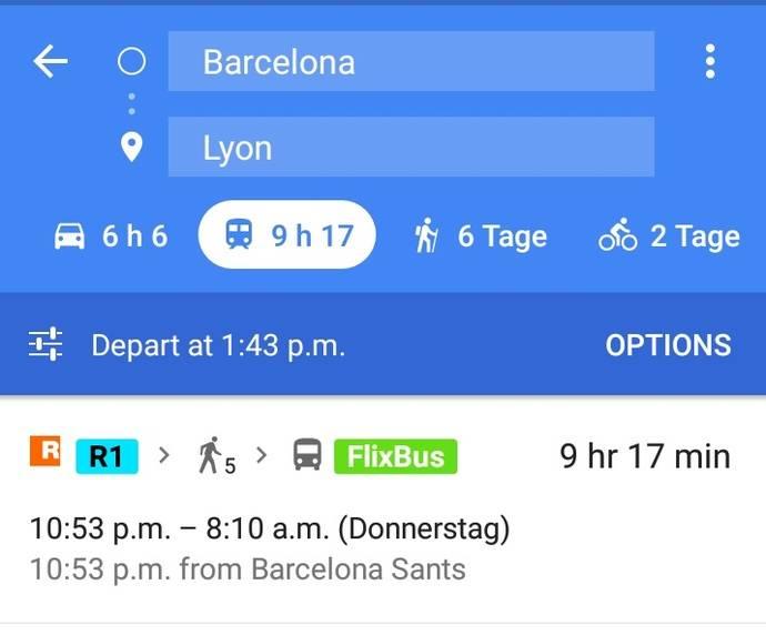 FlixBus se ha integrado recientemente en Google Maps