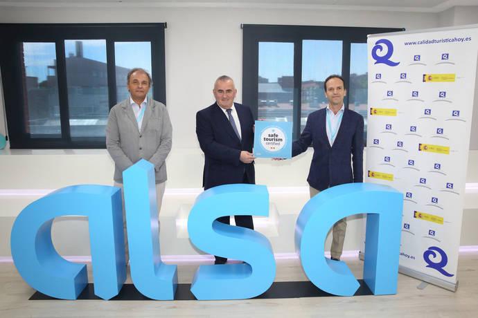 Alsa recibe el sello Safe Tourism Certified que otorga el Icte
