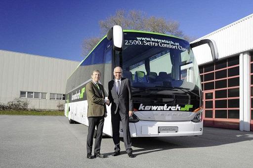 Setra entrega el autobús 2500 de la ComfortClass 500