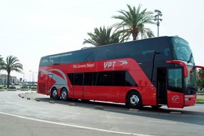 VPT Tours se refuerza con 20 Buses turísticos para circuitos por España y Europa