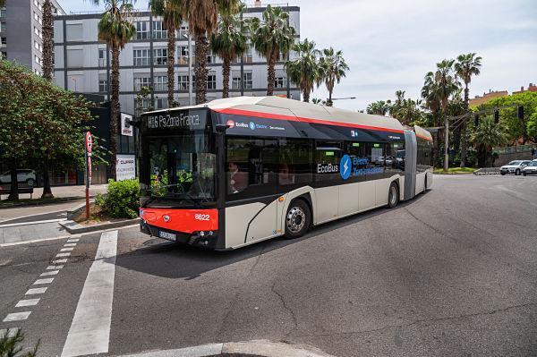 Primer mes de operación electrificada de la línea de autobuses H16