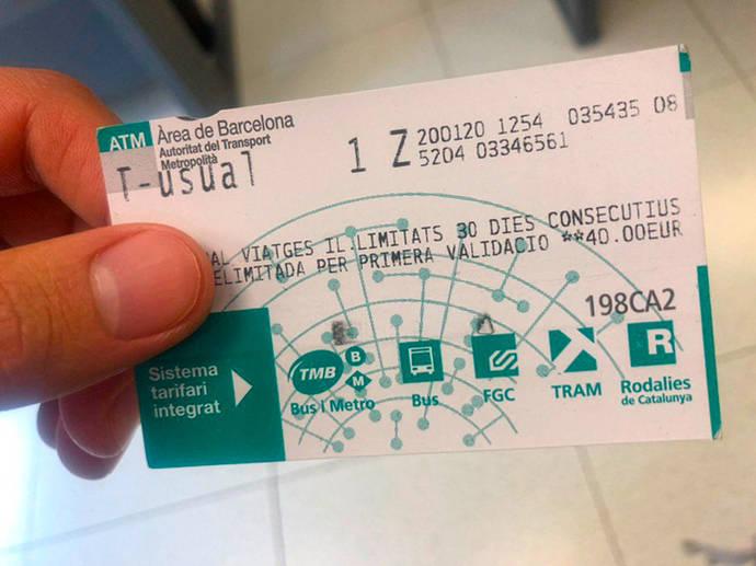 Bonificaciones en el transporte público catalán, para personas en paro
