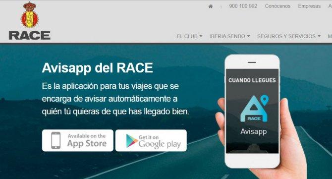 Avisapp, aplicación gratuita del Race que avisa de que ya has llegado