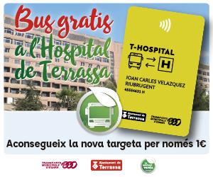 Terrassa pone en marcha la tarjeta de autobús 'T-Hospital'