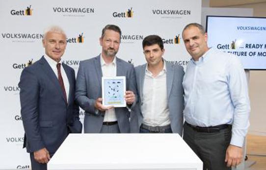 VW y Gett anuncian pacto para aumentar su actividad europea