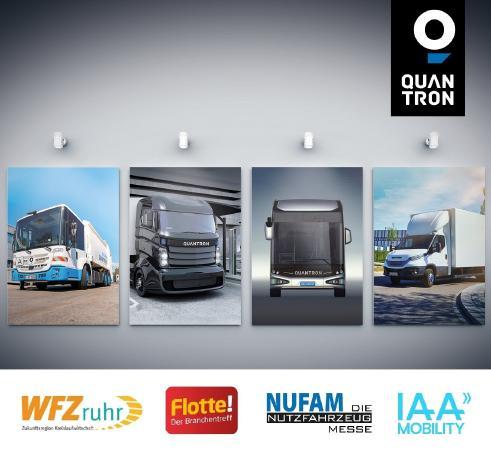Quantron presenta su portafolio de vehículos comerciales en cuatro ferias