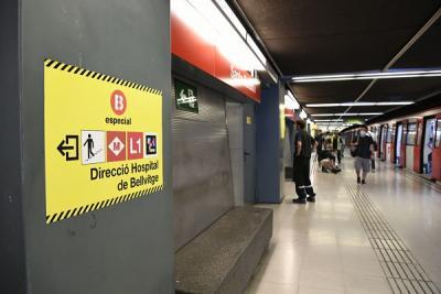 Buses alternativos al corte de la línea 1 de metro en L'Hospitalet, listos